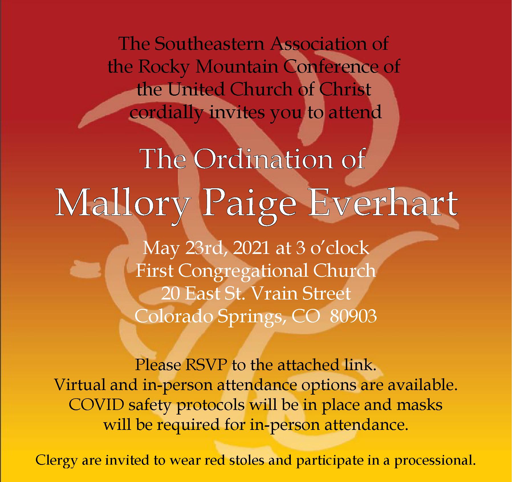 Ordination of Mallory